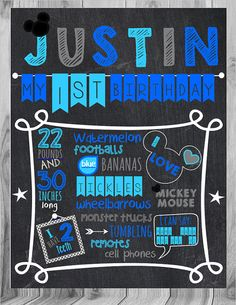 Check out this item in my Etsy shop https://www.etsy.com/listing/244988628/1st-birthday-chalkboard-print-mickey