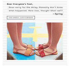 Saturday :: Spring sandals