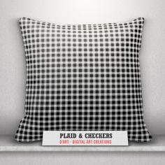 #Black and #white #pillows set... #blackandwhite #blackandwhitepillows #cushion #throwpillows #pillows #plaidpattern #plaid #tartan #blackandwhiteplaid #checkers #zazzler #zazzleshop #zazzle #digitalartcreations