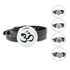 trendy 30mm 316 stainless steel twisted-off aromatherapy essential oil diffuser locket bracelet jewelry(free felt pads)