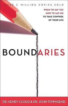 Boundaries by Dr. Henry Cloud and Dr. John Townsend      ---        This book is an expository on the necessity of boundaries in human relationships, what healthy boundaries are, and how to establish them.  Anecdotal  examples illustrate relationship difficulties and complexities.
