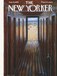 The New Yorker - Saturday, August 16, 1958 - Issue # 1748 - Vol. 34 - N° 26 - Cover by : Edna Eicke