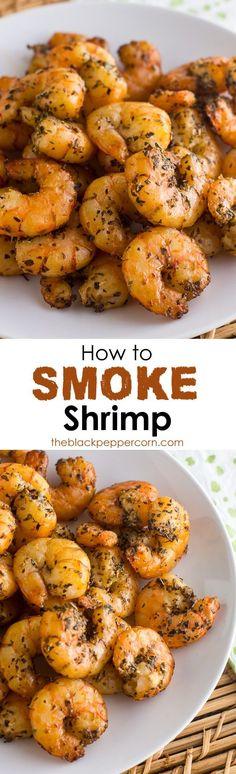 How to Smoke Shrimp in an Electric Smoker - via @blackpeppercorn