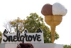 The Snelgrove ice cream cone sign in Sugar House in 2013. Tribune file photo