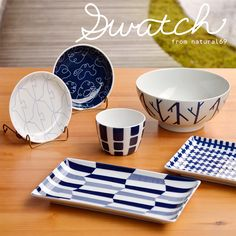 Swatch from Natural69 is a line of traditionally made ceramics from Nagasaki, Japan with modern designs and shapes.