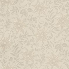 Aurelia Pewter (980725) - Sophie Conran Wallpapers - A light grey background with a linen effect pattern, overlaid with a silver metallic floral trail, highlighted with pearl like spheres. Please ask for sample for true colour match.
