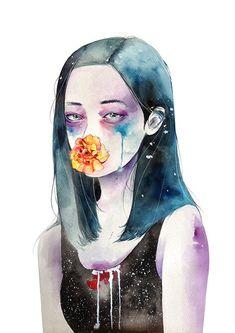 Inside my heart - Watercolor Illustrations by Kazel Lim