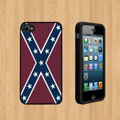 Confederate Rebel Flag Custom Case/Cover FOR Apple iPhone 5 BLACK Rubber Case ( Ship From CA ) by Cases, http://www.amazon.com/dp/B00FFL8PQ0/ref=cm_sw_r_pi_dp_SbWvsb15NR00E