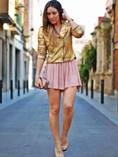 monicasors Outfit  Gold biker jacket  Primavera 2012. Combinar Chaqueta-Cazadora Dorada Zara Woman, Cómo vestirse y combinar según monicasors el 28-3-2012
