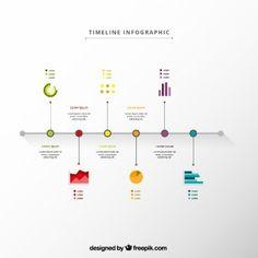 Infographie Timeline dans un style minimaliste