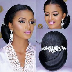 Lovely bridal inspo. Hair by @marieghold. Makeup by @eliorasignature. Accessories by @michigabbi. #africansweetheartweddings #bridal #bride