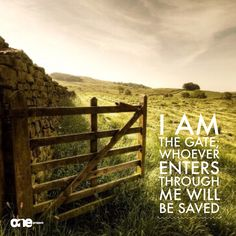 I am the gate; whoever enters through me will be saved. (John 10:9 NIV)