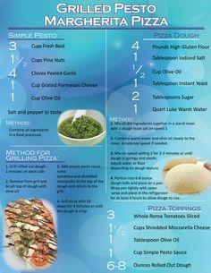 Grilled Pesto Margherita Pizza Recipe... So delicious!!