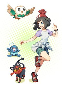 I really like this trainers design and I hope she can be in a sun and moon anime