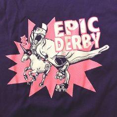 Epic Derby T-Shirt in Purple