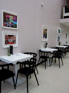 Trendykaffe - Sofia, Bulgaria,119 Pernik str. ( corner of Al. Stamboliysky blv. and Pernik str.) The frames are from Ikea, the photographs on canvas  - from AugustaGarden on Etsy.  http://pinterest.com/augustagarden/enchanted-walls-fine-art-photos-for-your-home/