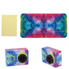 Colorful Lattice Sticker Skin Protector Case For XiaoMi Yi Sport Action Camera #UnbrandedGeneric
