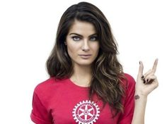 Brazilian model Isabeli Fontana takes part in the World's Biggest Commercial to eradicate polio. You can join her and show your support for Rotary's work to rid the world of this disease by visiting www.endpolionow.org. Isabeli Fontana, Bill Gates, End Polio Now, Rotary Club, Brazilian Models, World's Biggest, Worlds Of Fun, Commercial, Shirts