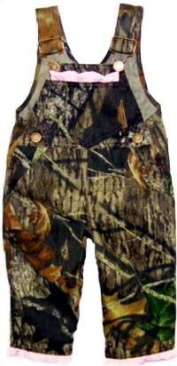 the most adorable camo coveralls for a baby girl