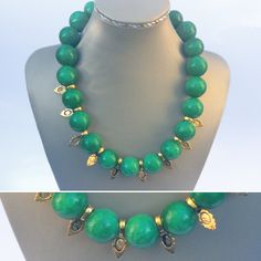 Art Deco Pattern, Jade Beads, Beaded Necklace, Jewelry Design, Stone, Metal, Beaded Collar, Rock, Pearl Necklace