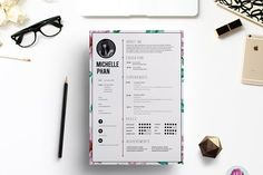 Floral CV template - Resumes
