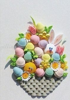 Celebrate Spring with this cute Easter Basket Quilling Kit!   www.customquillin...