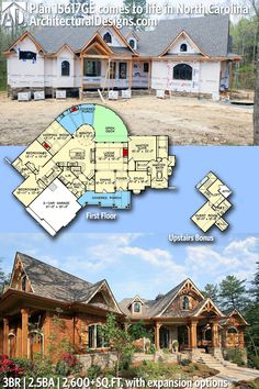 Architectural Designs House Plan 15617GE under construction in North Carolina | 3BR | 2.5 BA | 1,600+ sq.ft. + bonus upstairs| Ready when you are. Where do YOU want to build? #15617GE #adhouseplans #architecturaldesigns #houseplan #architecture #newhome #newconstruction #newhouse #homedesign #dreamhome #dreamhouse #homeplan #architecture #architect #housegoals #shinglestyle #craftsmanhouse #craftsmanstyle #traditional #clientbuilt #client