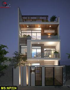 Discover recipes, home ideas, style inspiration and other ideas to try. Modern House Facades, Modern House Plans, Small House Plans, 3 Storey House Design, House Front Design, Modern Small House Design, House Tiles, Facade House, Exterior Design