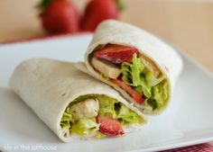 Strawberry Chicken Wraps -- this uses my favorite dressing.  I LUUUV Poppy seed dressing. It's great on fruits, veggies...just about anything.