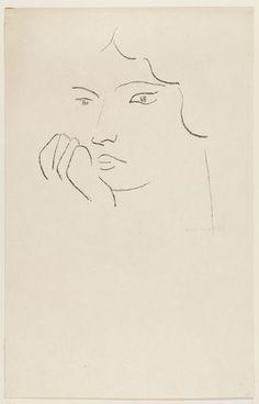 henri matisse. pensive woman, 1906.