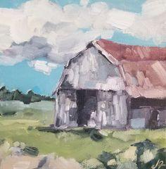 8 x 8 oil on canvas Jeremy Fowler Nashville, Oil On Canvas, Barns, Artist, Painting, Artists, Painting Art, Barn, Paintings