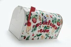 Decoupage a Mailbox with Fabric | FaveCrafts.com