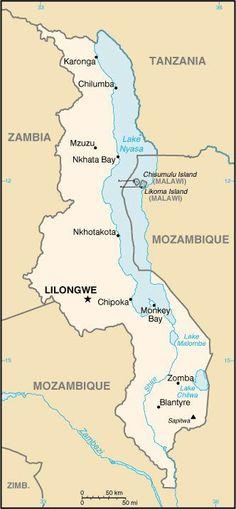 Map of Malawi © CIA World Factbook