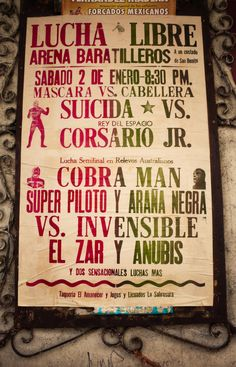 Will be doing some designs based on this Lucha Libre posters. Very exciting.