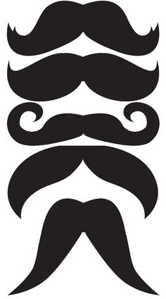 Mustaches template - make your own photobooth props