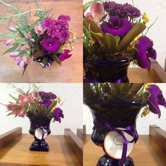 Taça Blue e mix de flores.