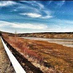 Bear River, Nova Scotia earlier today.