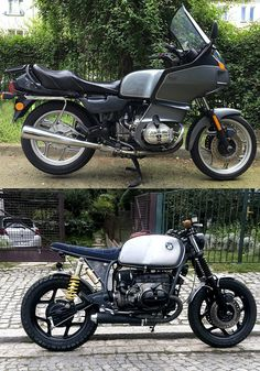 BMW R100RT before and after
