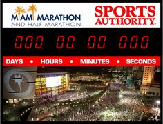 Countdown to the Miami Marathon by the Sports Authority in Dadeland, Florida