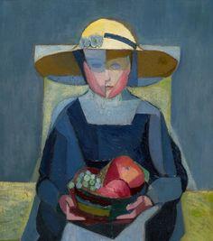 Girl with Pieces of Fruit, 1917 - Ángel Zárraga (1886–1946)
