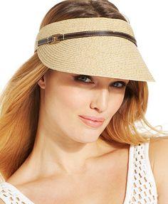 9c440ed90c2 Nine West Packable Visor Sun Hats