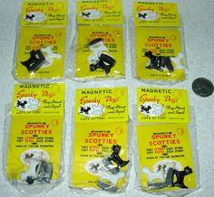 6 Vintage Packs Magnetic Spunky Scottie Dogs Toys | eBay
