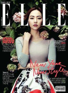 Minh Hằng - Elle Magazine Cover [Vietnam] (February 2015)