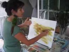 ▶ How to Paint a Background with Acrylic on Canvas - YouTube