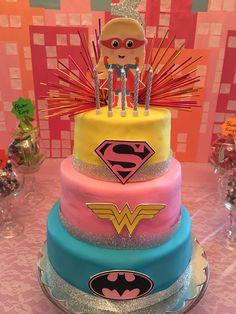 Super hero cake for girls