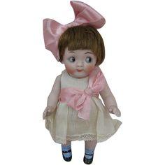 """Fine Quality 5"""" Kestner 189 All Bisque Antique Doll"""