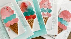 """Make Your Own """"Ice Cream"""" Designer Paper - the YouTube Live version - YouTube Special Birthday Cards, Youtube Live, Mesh Ribbon, Make Your Own, How To Make, Spring Sale, Paper Pumpkin, Community Art, Paper Design"""