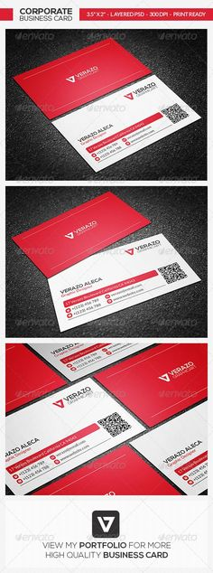 Buy Corporate Business Card 29 by verazo on GraphicRiver. Corporate Business Card Template A highly versatile business card template that is designed for both corporate busine. Minimal Business Card, Corporate Business, Business Card Design, Creative Business, High Quality Business Cards, Logo Design, Graphic Design, Name Cards, Card Templates