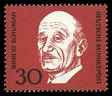 french postage stamp: GERMANY - CIRCA A stamp printed in Germany shows Robert Schuman, circa 1968 Feldkirch, Robert Schuman, Free In French, Velasco, Stamp Printing, Europe, Postage Stamps, Royalty Free Images, Germany