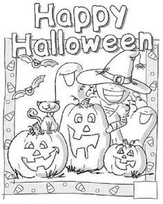 Free Printable Coloring Page Of Happy Halloween